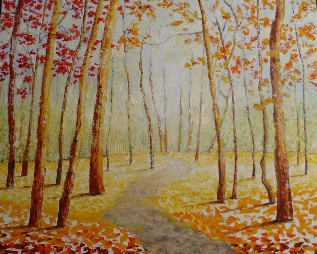 Bosque misterioso 87 x 100 cm.